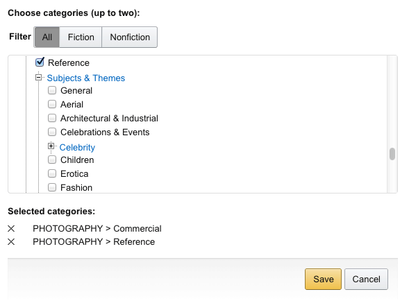 Photography Categories In Amazon