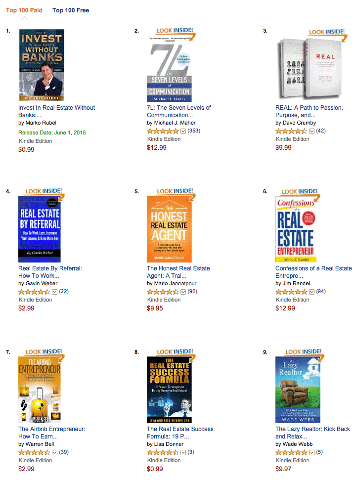 Competing Books In The Amazon Kindle Store