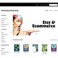Marketing Artfully Shop - Marketing Planners and Worksheets