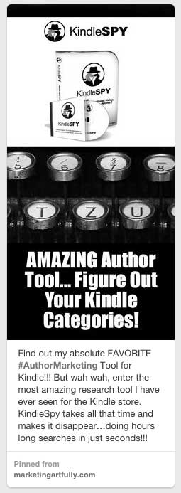 Kindle Spy Pinterest Pin