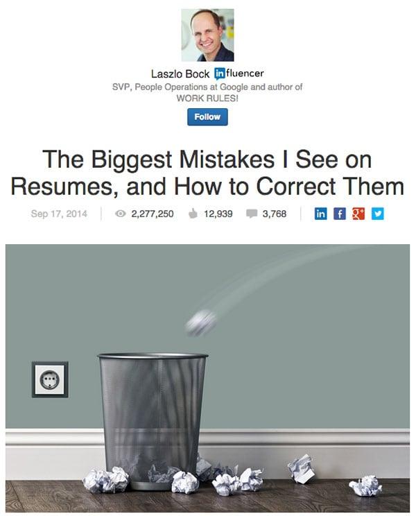 Popular Post On LinkedIn