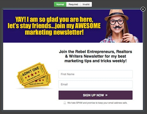 Blue Version   LeadBox 3 LeadPages Example