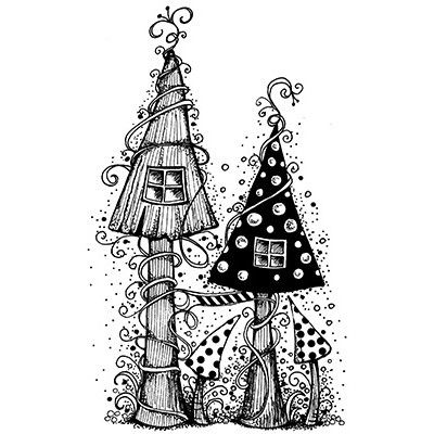 Zentangle Fairy House