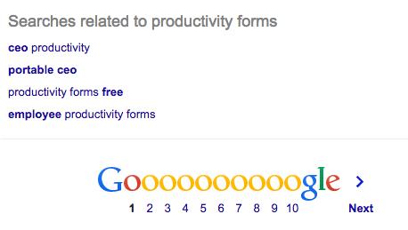 Google Keyword Suggestions Bottom