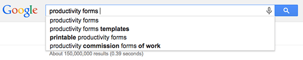 Google Suggestions Top