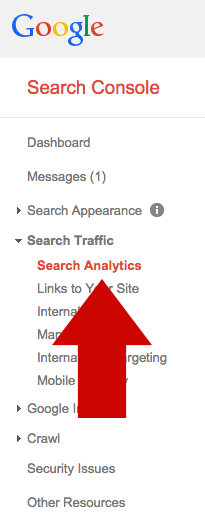 Google Webmaster Tools Search Data