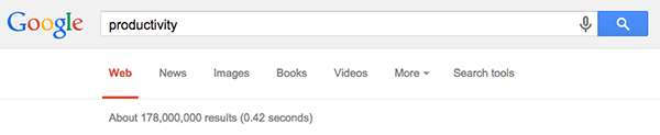 Productivity Keyword Search