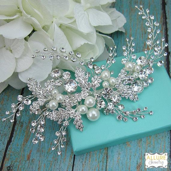 Swarovski Bridal Clip, Rhinestone Comb, Bridal Comb Crystal