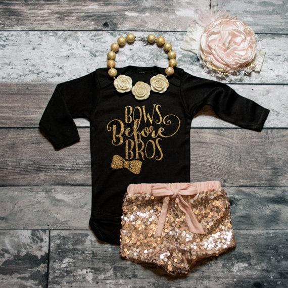 Bros Before Bows - Baby Shirt