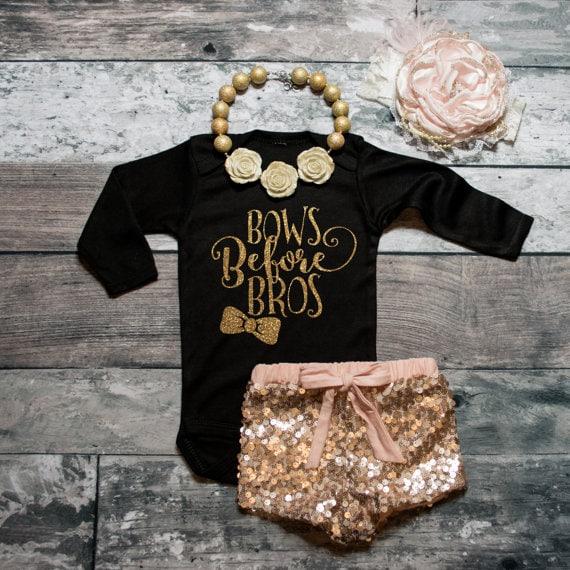 Bros Before Bows - Baby Shirt