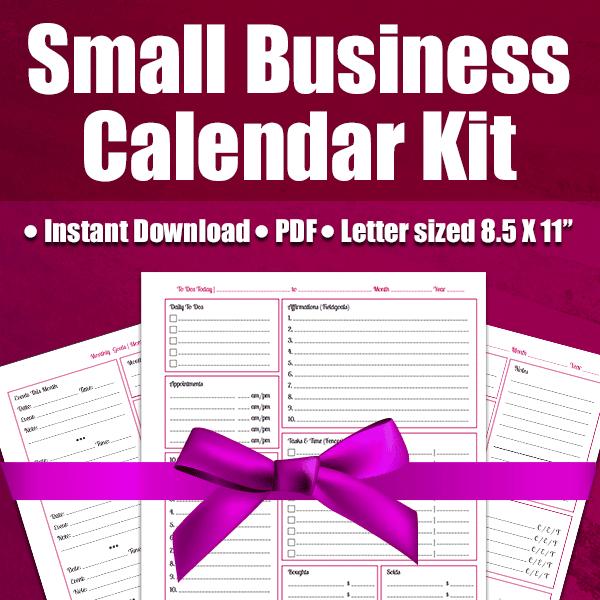 Small Business Calendar Kit