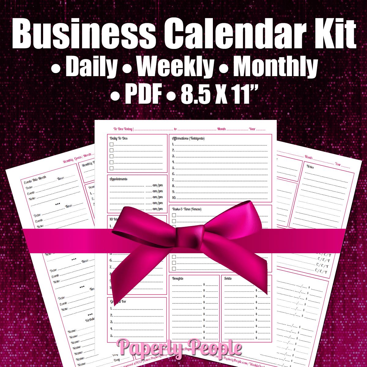 Business Calendar Kit