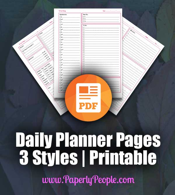 Daily Planner Page - Printable Planners