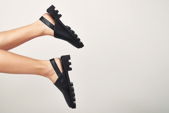 Black mules - leather clogs - women's clogs - platform mules - platform leather clogs - designer shoes