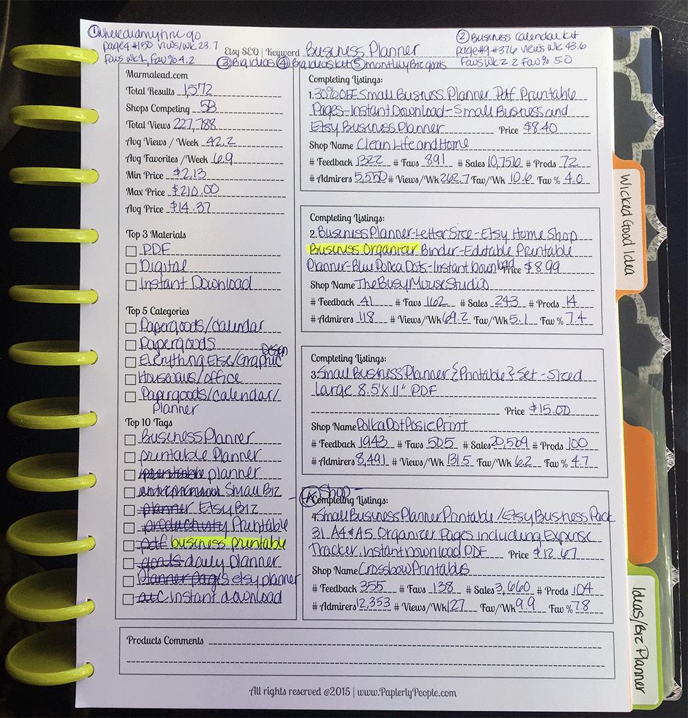My Notes On Etsy SEO
