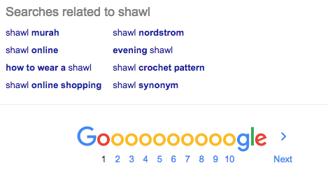 Google Search Related Terms