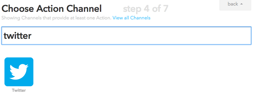 Choose Your IFTTT Channel