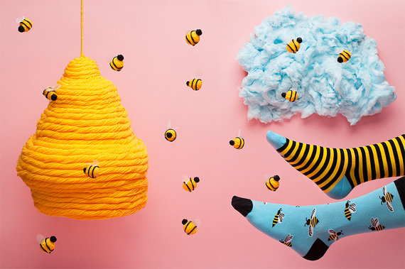 Cute Bee Socks On Etsy