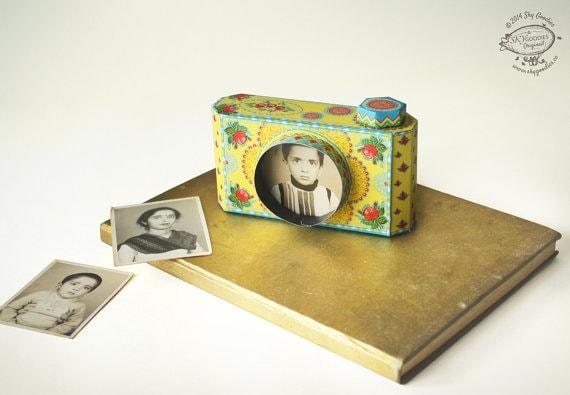 DIY Paper Camera Photo Frame | Colorful Yellow Design