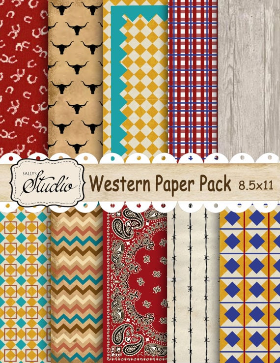 Western Paper Pack, Instant Digital Download