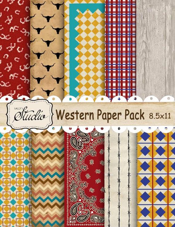 Western Paper Pack, Instant Digital Download