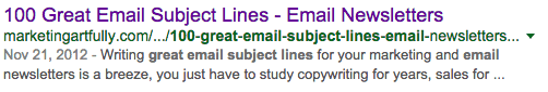 100 Great Email Subject Lines Search