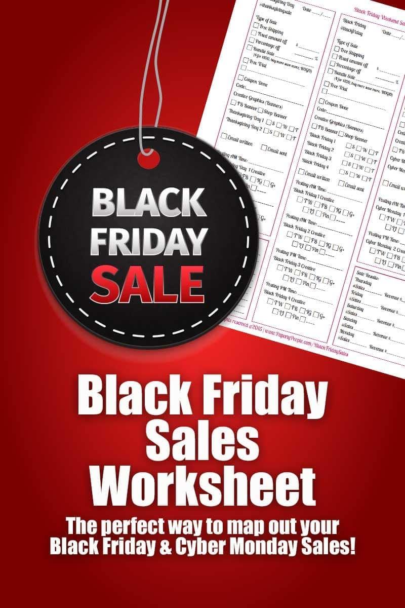 Black Friday Sales Worksheet