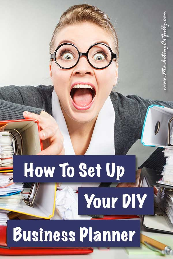 How To Set Up Your DIY Business Planner... I admit it, I LOVE all the pretty business planners that are out there! I have used an Erin Condren in the past and currently have a happy planner that I use for my family planner. BUT for my business planner, I am not looking for cute, I am looking for effective!