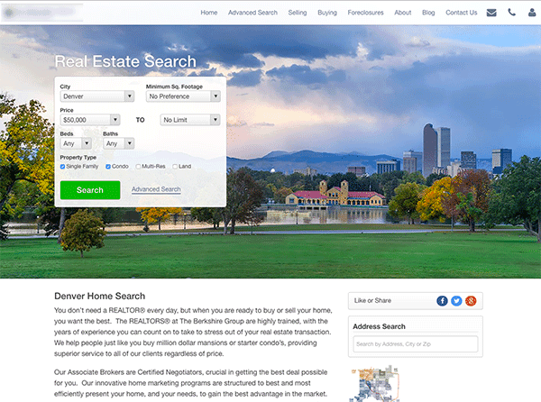 realtor website examples