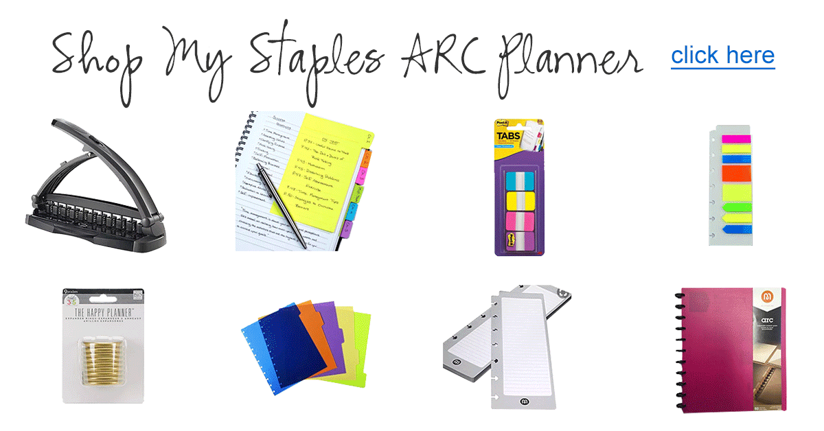 Shop My Staples ARC DIY Planner