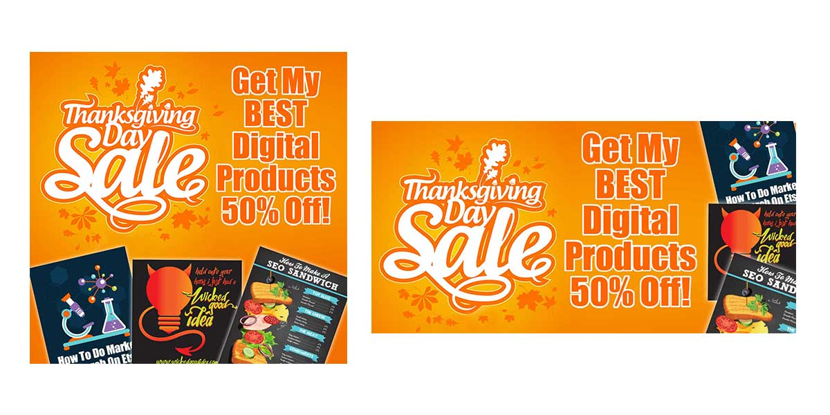 Thanksgiving Day Sale Creatives 1