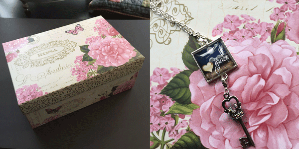 Before and after cardboard box