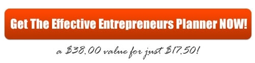 Get the Effective Entrepreneurs Business Planner NOW!