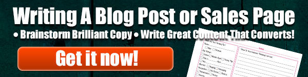 Writing A Blog Post or Sales Page