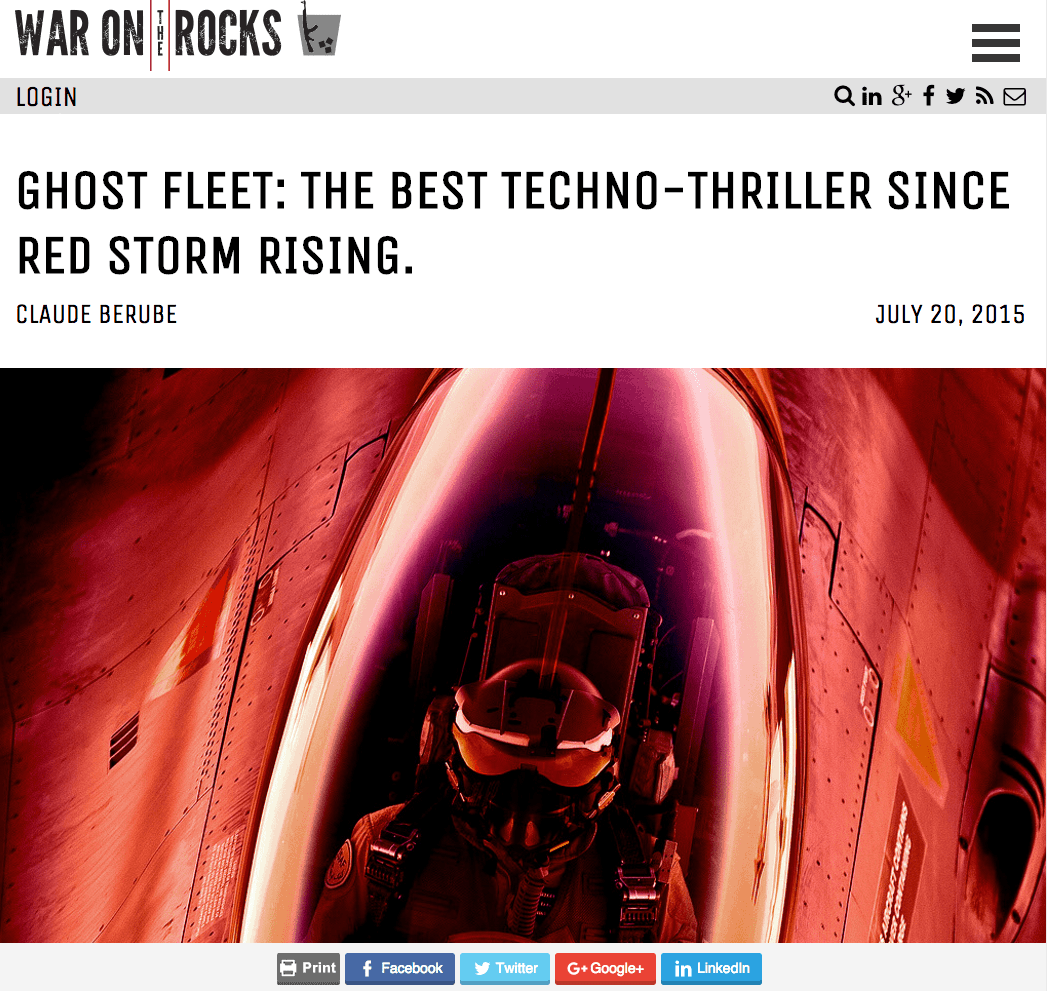 war on the rocks - techno thriller review
