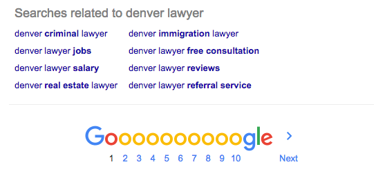 Denver Lawyer Keyword Search