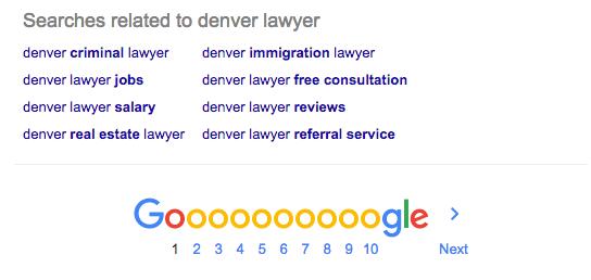 Denver Lawyer Keyword Search