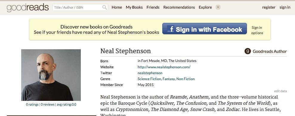 Neal Stephenson Goodreads