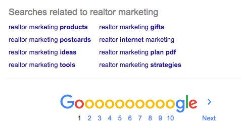 Realtor Marketing Ideas Keyword Research