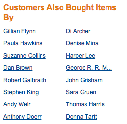 Recommended Authors From Amazon
