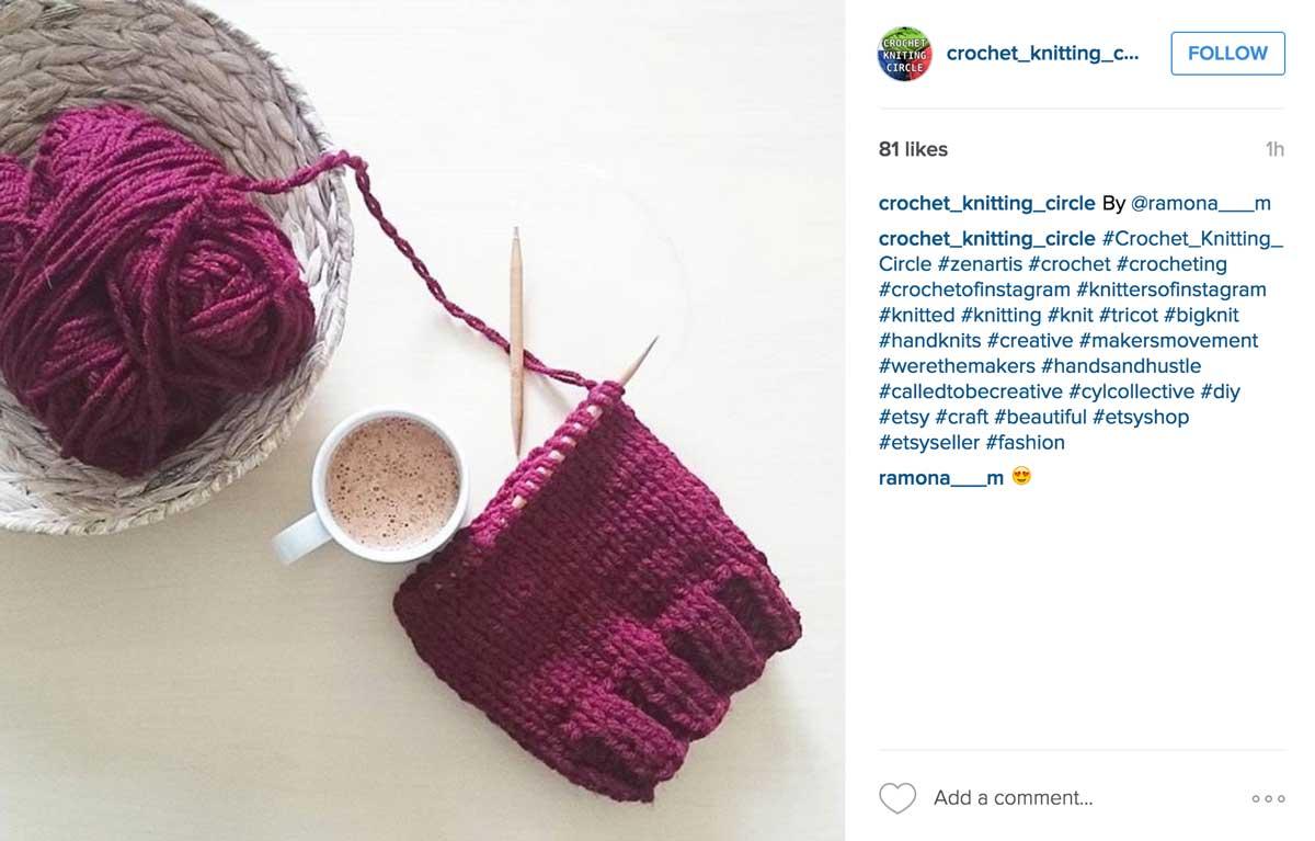 Crochet Knitting Circle - Flat Lay Photography Knitting