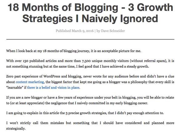 18 Months of Blogging - 3 Growth Strategies I Naively Ignored