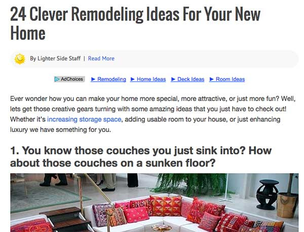 24 Clever Remodeling Ideas - Roundup Blog Posts For Advanced Marketers