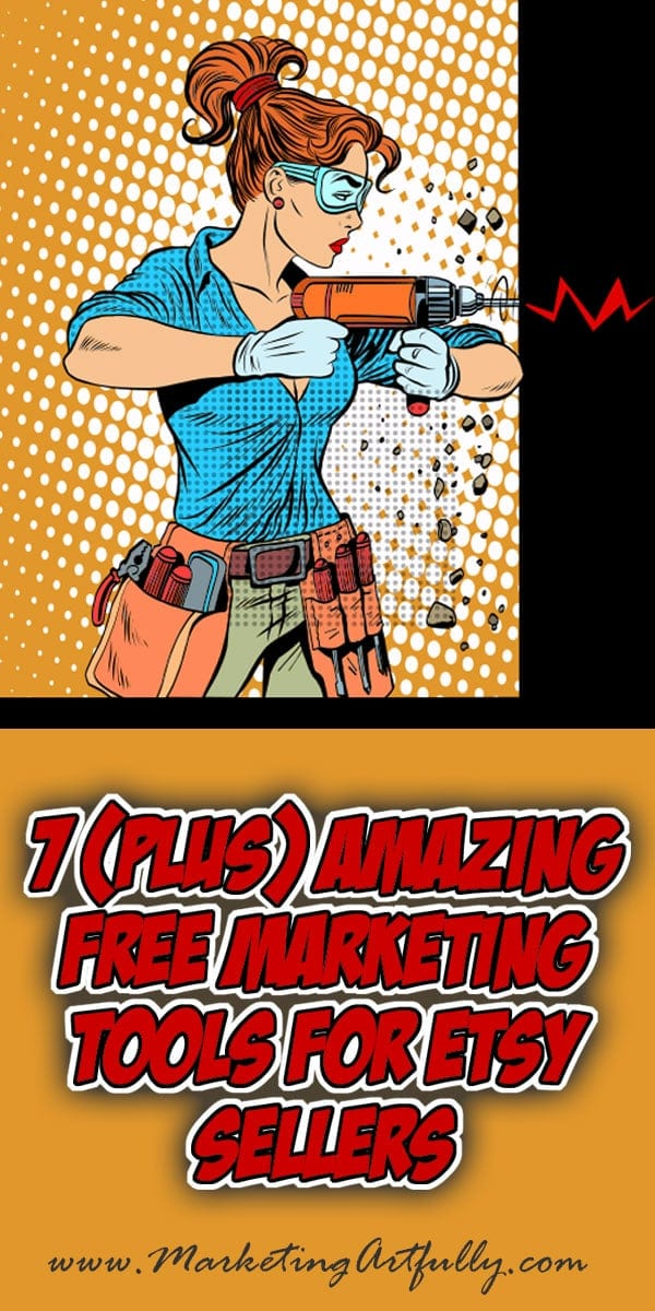 7 Amazing Free Marketing Tools For Etsy Sellers | I LOVE collecting great free marketing tools and hacks that Etsy sellers can use to promote and grow their shops! This list includes some of my all time favorite tools that I use regularly for my shop!