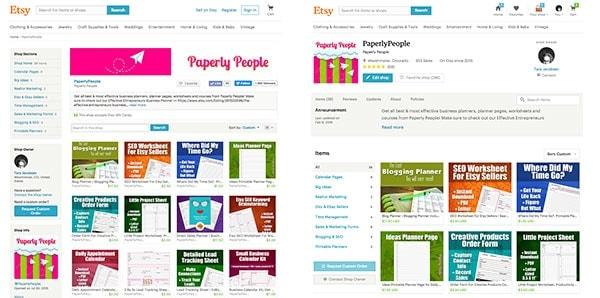 Etsy Old Seller Site Versus New Seller Site