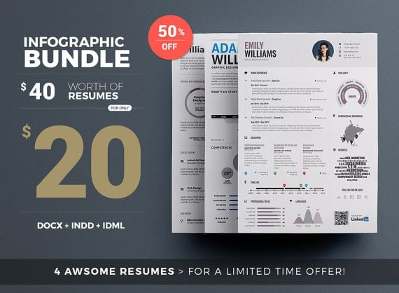 Infographic Resume Bundle