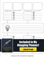 Mindmap - Included In My Blog Planner