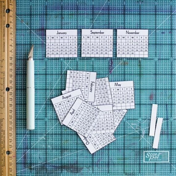 2016 Mini Calendars for Crafts Digital Download - Printable