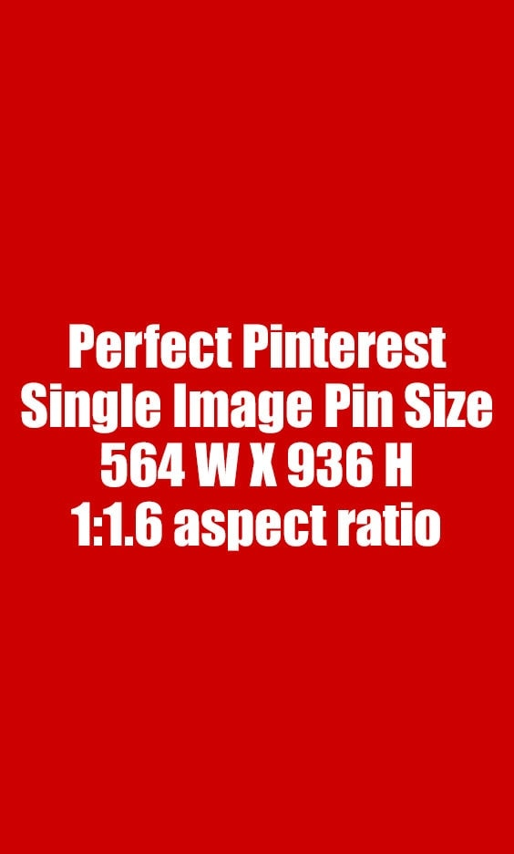 Perfect Single Image Pin Size