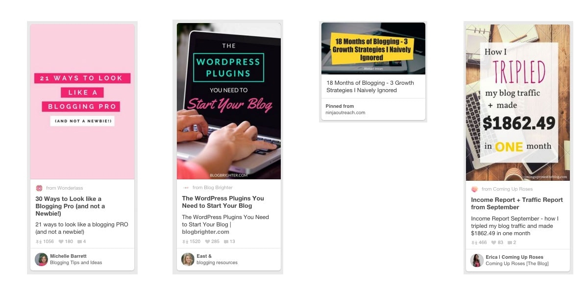 Pinterest Marketing Fails - Comparison Pictures